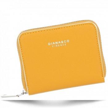 Poręczne Uniwersalne Portfele Damskie firmy Diana&Co Żółty