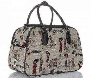 Mała Torba Podróżna Kuferek Or&Mi London Multikolor - Beżowa