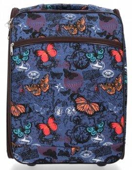Modna Walizka Kabinówka Butterfly firmy Or&Mi Granat