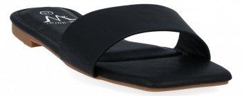 Czarne modne klapki damskie firmy Bellicy