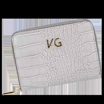Vittoria Gotti nositeľné elegantné kožené peŘaženky ženy v aligátor motív Svetlo šedá
