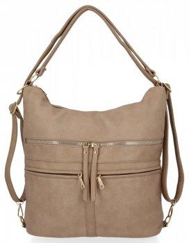 Univerzálne dámske tašky XL s funkciou batohu od Herisson dark beige
