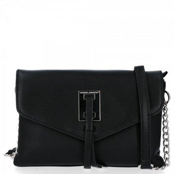 Elegantná dámska dvojkomorová taška David Jones čierny