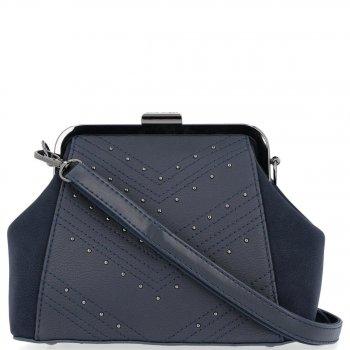 Elegantné tašky David Jones messenger pre ženy, zapnuté Bigel, Tmavo modrá