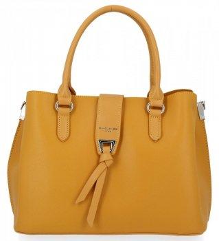 David Jones Trojkomorová taška dámska elegantná žltá taška