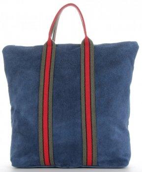 Vittoria Gotti módne pruhované kožené tašky značkové Kupujúci vyrobené v Taliansku s funkciou batohu džínsy