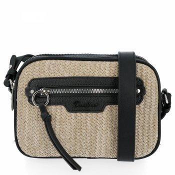 Ratan Dámske messenger bag 2 priehradky od David Jones čierny
