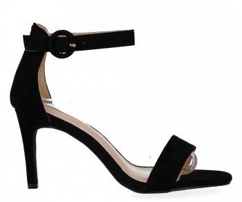 Čierne dámske sandále s vysokým podpätkom Bellucci