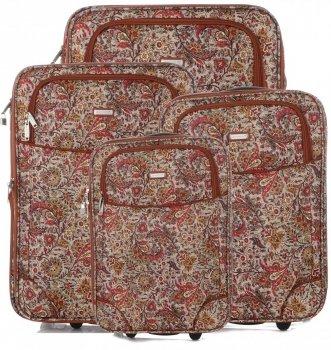 Unikátna sada kufrov 4v1 od známej značky Madisson Multicolor-chocolate