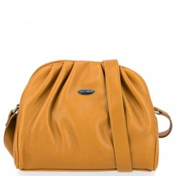 Elegantná dámska taška David Jones žltý