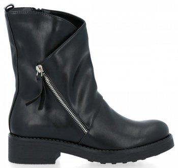 Čierne ploché členkové topánky Olivia
