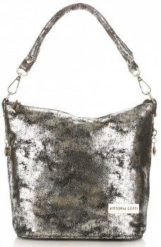 VITTORIA GOTTI vyrobená v Taliansku elegantná taška na posol z pravej kože
