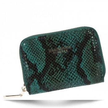 Ekskluzywny Mały Portfel Damski w motyw węża firmy Diana&Co Zielony