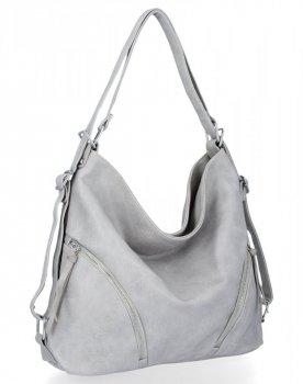 BEE BAG univerzálne dámske tašky s funkciou Madison batohu Svetlo šedá