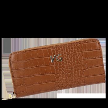 Vittoria Gotti elegantné značkové kožené Dámske peŘaženky v téme aligátor rudy