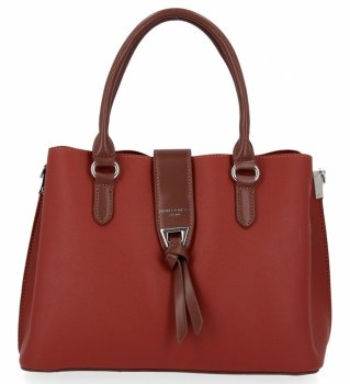 David Jones Trojkomorová taška dámska elegantná tehlová taška