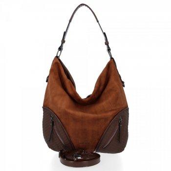Univerzálne dámske tašky XL David Jones hnedý