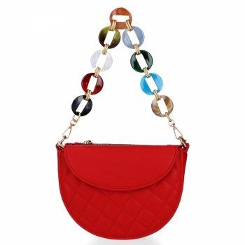 Elegantná Dámska prešívaná taška Herisson červený