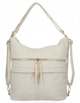 Univerzálne dámske tašky XL s funkciou batohu Herisson light beige