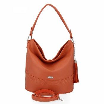 Univerzálna príležitostná dámska taška David Jones Orange