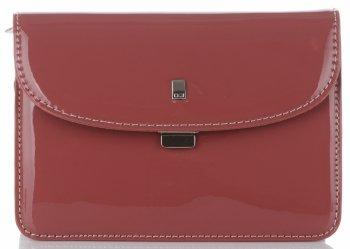 David Jones Značková dámska taška exkluzívna taška Patent Messenger tmavo ružová