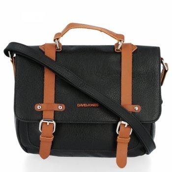 David Jones štýlové dámske Messenger taška Vintage Čierna