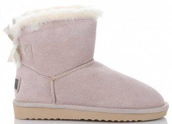 Talianske kožené členkové topánky dámske zimné topánky s prírodnou kožušinou Béžová