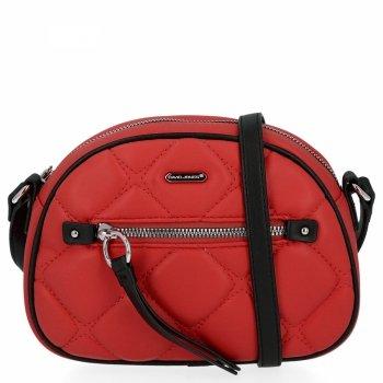 Prešívaná dámska malá taška David Jones červený