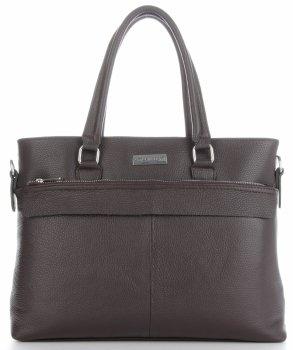 Vittoria Gotti classic kožená Aktovka taška pre ženy A4 talianskej výroby čokoláda