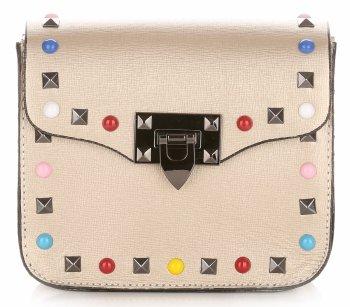 Módne talianske kožené Crossbody tašky so zlotým farebným popruhom