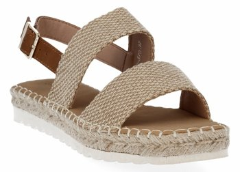 Camel Dámske espadrille sandále Bellucci