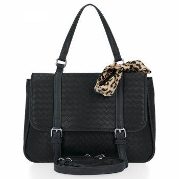 Módna dámska taška s šatkou Herisson čierny