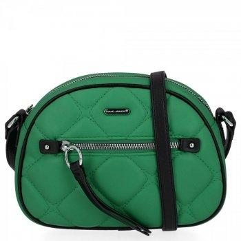 Prešívaná dámska malá taška David Jones zelený