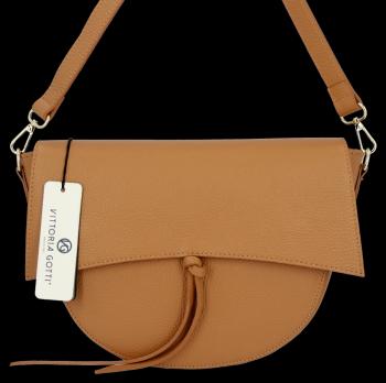 Elegantná Kožená taška Vittoria Gotti vyrobená v Taliansku Ruda