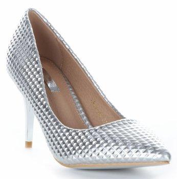 Módne a elegantné dámske topánky s vysokými podpätkami Bellucci Silver