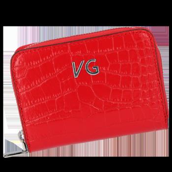 Vittoria Gotti nositeľné elegantné kožené peŘaženky ženy v aligátor tému červená