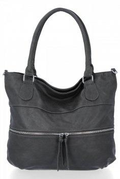 Uniwersalna Torebka Damska Herisson Shopper Bag Szara