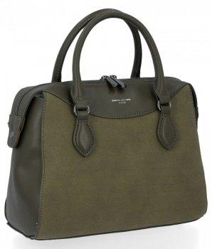 Elegantné dámske tašky klasické tašky David Jones khaki