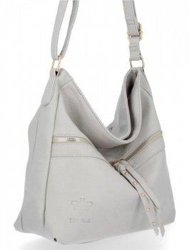 Bee BAG univerzálna dámska taška Emilia svetlošedá