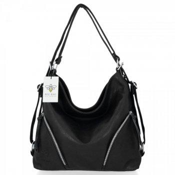 BEE Bag univerzálne dámske tašky s funkciou Madison čierny batohu
