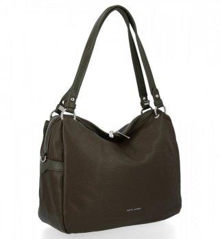Univerzálna príležitostná dámska taška David Jones khaki