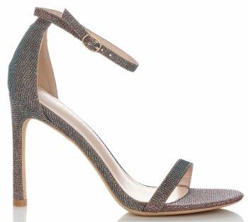 Módne Dámske ihlové sandále lesklé Viacfarebné