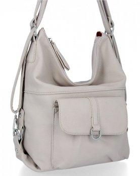 Bee BAG univerzálna dámska taška s funkciou batohu Millie svetlo šedá