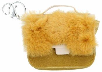 Módna kľúčenka pre tašky žltá