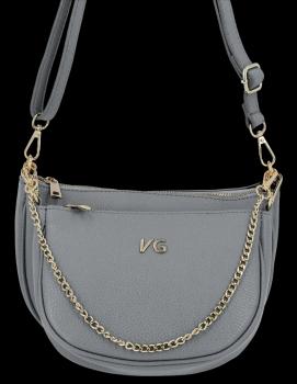 Módne kožené messenger tašky 2 v 1 od Vittoria Gotti, vyrobené v Taliansku šedá