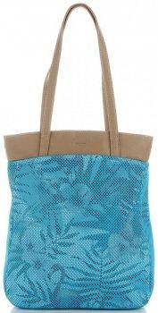 David Jones módna dámska taška v tropickom dizajne viacfarebná tyrkysová