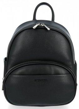 Univerzálny dámsky ležérny batoh David Jones čierny
