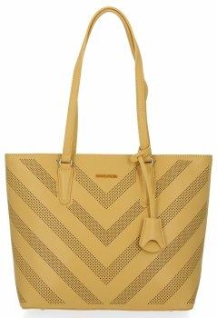 Módne klasické dámske tašky David Jones žltý