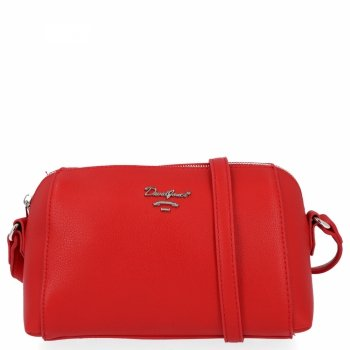 Univerzálna dámska taška na posol pre všetky príležitosti David Jones červený