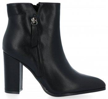 Čierne klasické členkové topánky na stojane Chloé